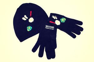 guanti e cappello moschino 17
