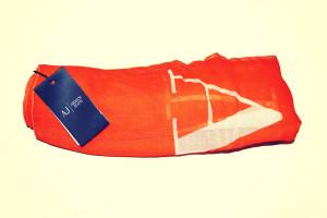 sciarpa arancio armani 23