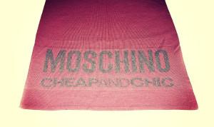 sciarpa rosa moschino 28